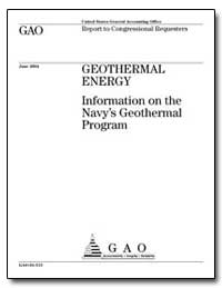Geothermal Energy Information on the Nav... by General Accounting Office