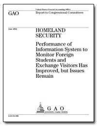 Homeland Security Performance of Informa... by General Accounting Office