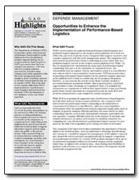 Defense Management Opportunities to Enha... by General Accounting Office