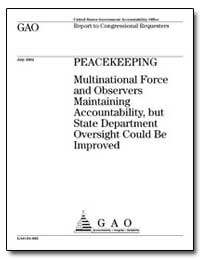 Multinational Force and Observers Mainta... by General Accounting Office