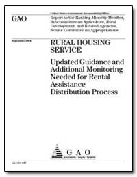 Updated Guidance and Additional Monitori... by General Accounting Office