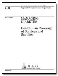 Health Plan Coverage of Services and Sup... by Barton, Joe