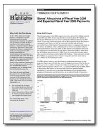 States Allocations of Fiscal Year 2004 a... by General Accounting Office