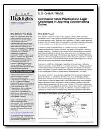 Commerce Faces Practical and Legal Chall... by General Accounting Office