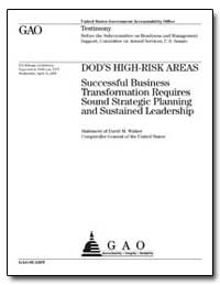 Dod's High-Risk Areas Successful Busines... by Walker, David M.
