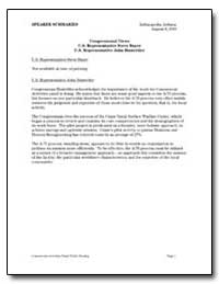 Congressional Views U. S. Representative... by General Accounting Office