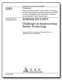 Border Security Challenges in Implementi... by Kingsbury, Nancy R.