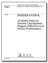 Border Patrol Available Data on Interior... by General Accounting Office