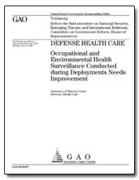 Defense Health Care Occupational and Env... by Crosse, Marcia