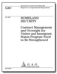 Contract Management and Oversight for Vi... by General Accounting Office