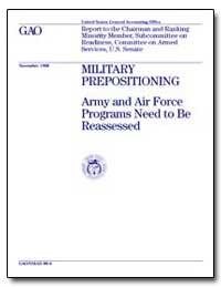 Military Prepositioning Army and Air For... by Gebicke, Mark E.