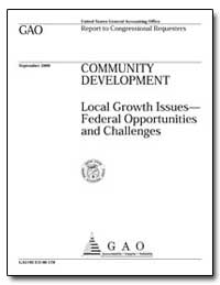 Community Development Local Growth Issue... by General Accounting Office