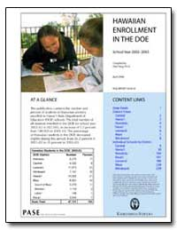 Hawaiian Enrollment in the Doe by State Department of Education