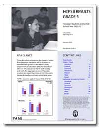 Hcps II Results : Grade 5 by State Department of Education
