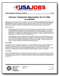 Veterans Employment Opportunities Act of... by United States Department of the Treasury