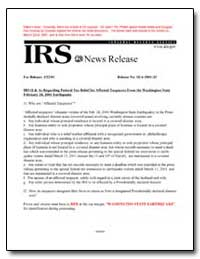 Irs Q and as Regarding Federal Tax Relie... by United States Department of the Treasury