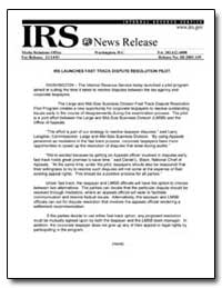 Irs Launches Fast Track Dispute Resoluti... by United States Department of the Treasury