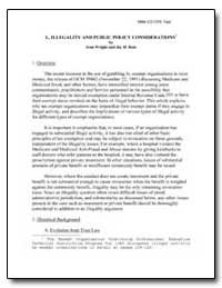 L. Illegality and Public Policy Consider... by Wright, Jean
