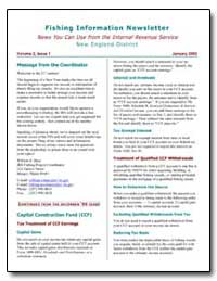 Fishing Information Newsletter News You ... by Haas, William E.