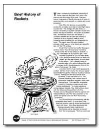 Brief History of Rockets by National Aeronautics and Space Administration
