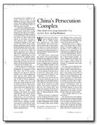 China's Persecution Complex by Donnelly, Thomas