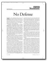 No Defense by Kagan, Robert