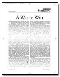A War to Win by Kagan, Robert