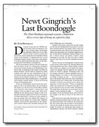 Newt Gingrichs Last Boondoggle by Donnelly, Thomas
