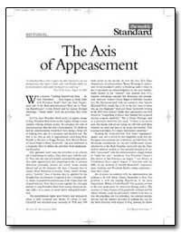 The Axis of Appeasement by Kristol, William