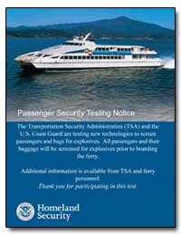 Passenger Security Testing Notice by Transportation Security Administration