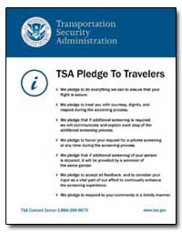 Tsa's Pledge to Travelers by Transportation Security Administration