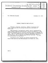 Federal Financing Bank Activity by Haworth, Charles D.