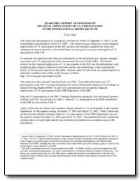 Quarterly Report to Congress on Financia... by United States Department of the Treasury