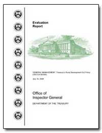 General Management : Treasury's Rural De... by United States Department of the Treasury