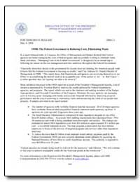 Omb : The Federal Government Is Reducing... by