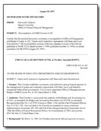 Recompilation of Omb Circular A-102 by Forman, Mark A.