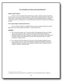 New Flexibility for States and School Di... by