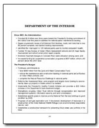 Department of the Interior by Norton, Gale A.