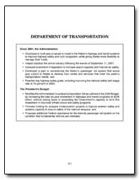 Department of Transportation by Mineta, Norman Y.