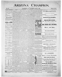 The Arizona Champion : Volume 8, May 188... by Fay, A.E.
