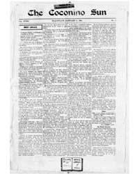 The Coconino Sun : Jan 1901 by Funston, C.M.