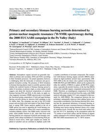Primary and Secondary Biomass Burning Ae... by Paglione, M.