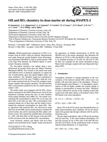 Oh and Ho2 Chemistry in Clean Marine Air... by Sommariva, R.