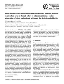 Mass Concentration and Ion Composition o... by Kouyoumdjian, H.
