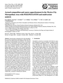 Aerosol Composition and Source Apportion... by Johnson, K. S.