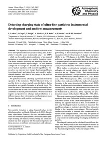 Detecting Charging State of Ultra-fine P... by Laakso, L.