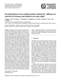 Size Distributions of Non-volatile Parti... by Engler, C.