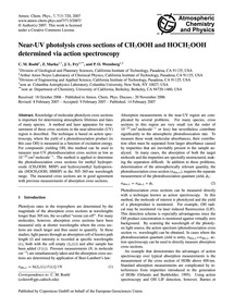 Near-uv Photolysis Cross Sections of Ch3... by Roehl, C. M.