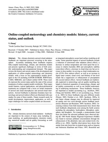 Online-coupled Meteorology and Chemistry... by Zhang, Y.