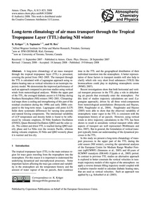 Long-term Climatology of Air Mass Transp... by Krüger, K.